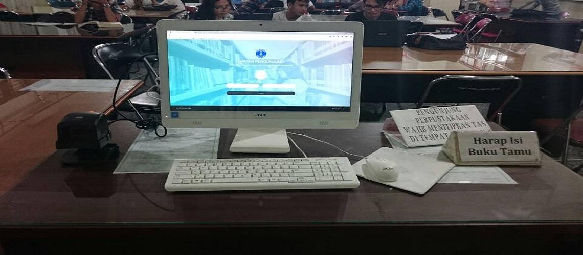 komputer visitor counter perpustakaan uma