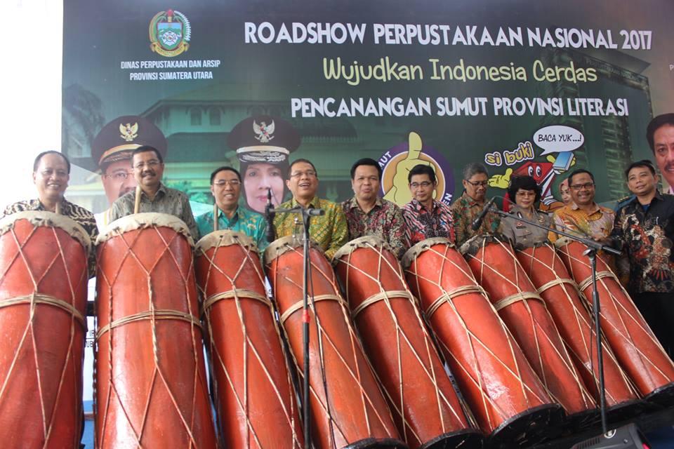 deklarasi sumut kota literasi oleh gubernur sumatera utara