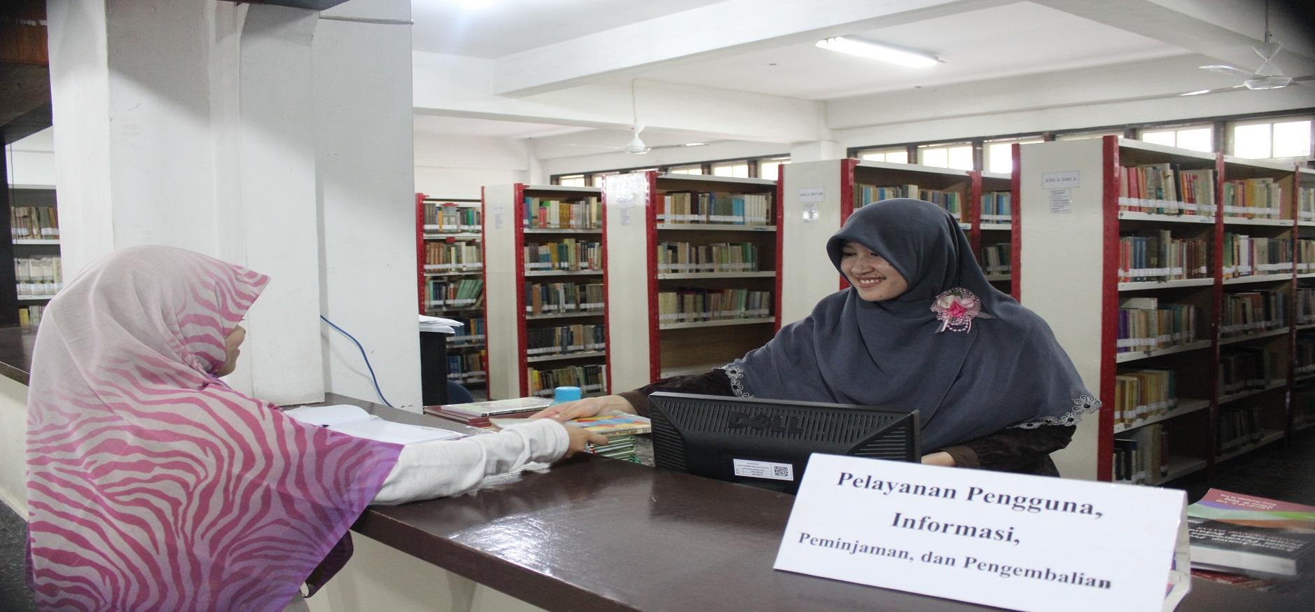 pelayanan sirkulasi di perpustakaan uma