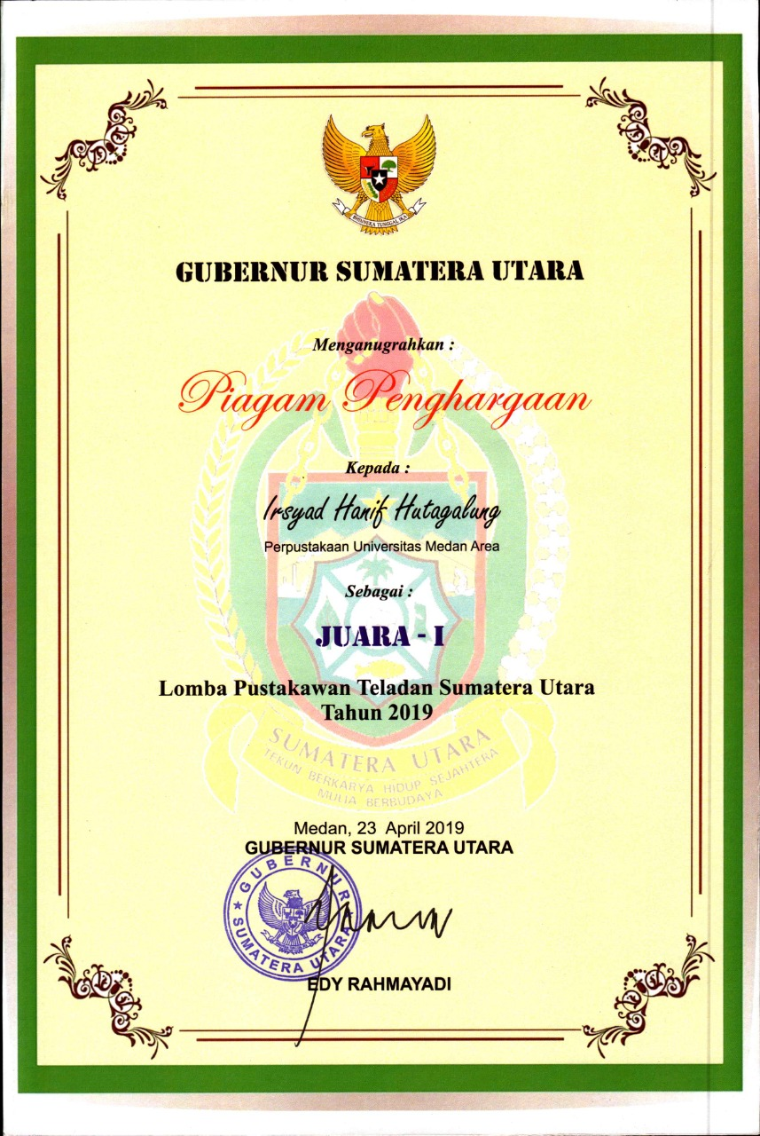 juara 2 lomba perpustakaan terbaik sumatera utara
