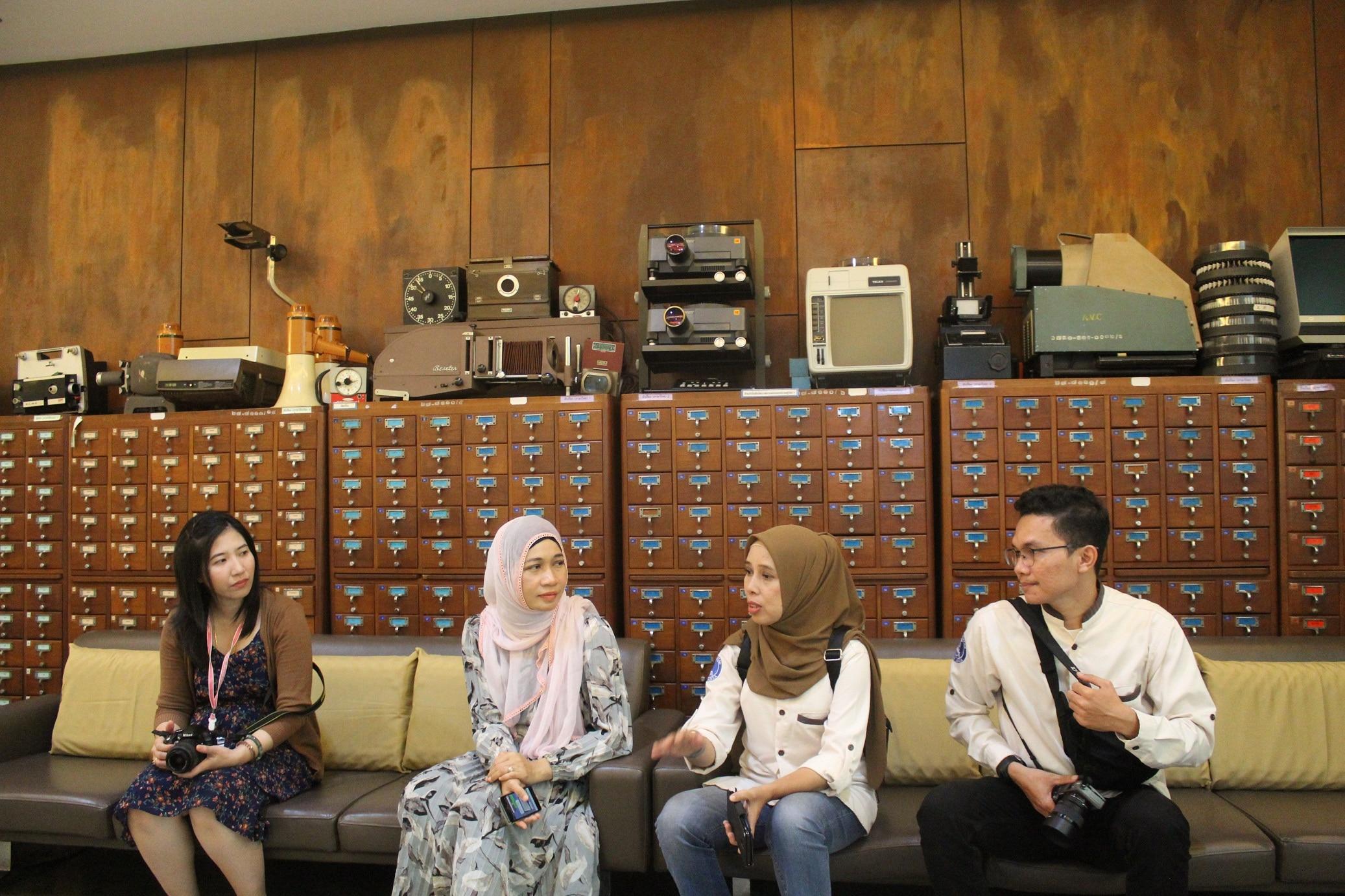 Diskusi dengan Kepala Perpustakaan UMA